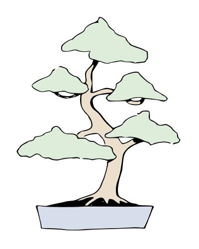 Bonsai MOYOGI - Vertical informal - Ilustraciones