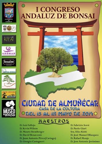Cartel 1º Congreso Andaluz del Bonsái