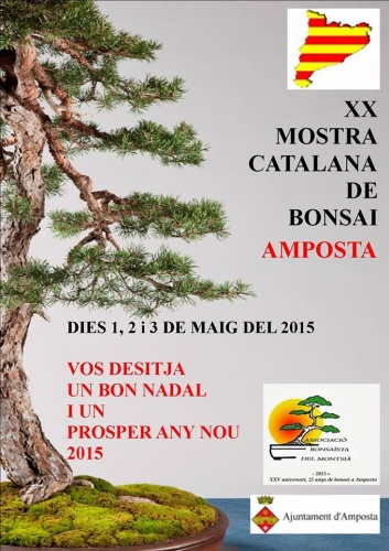 Cartel XX Mostra Catalana de Bonsai Amposta